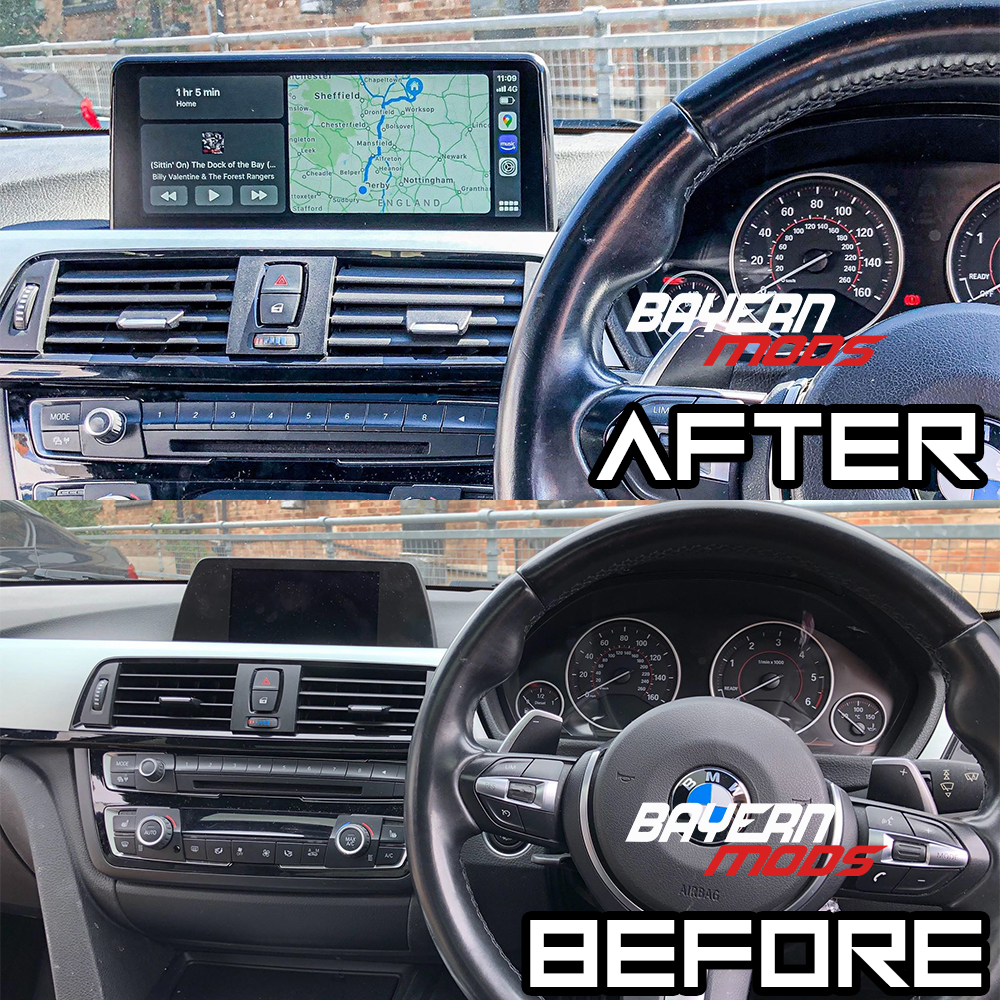 Android 10 Falcon Display for BMW 3 and 4 Series F30, F32, F36 and more www.bmods.co.uk