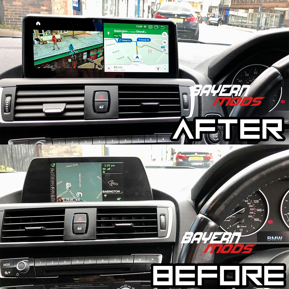 Android 10 Falcon Display for BMW 1 and 2 Series F20, F22 and more www.bmods.co.uk