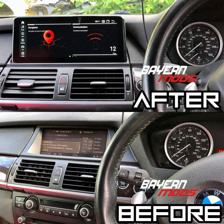 Android 10 Display for BMW X6 and X5 www.bmods.co.uk