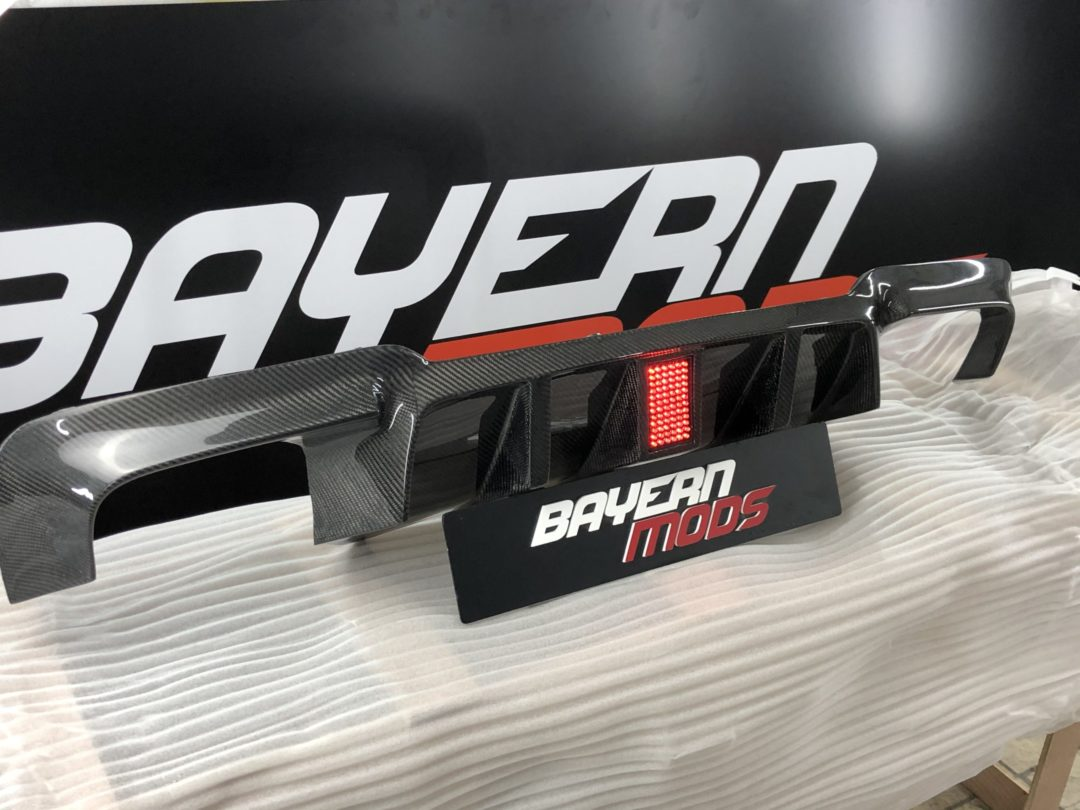 carbon fibre diffuser for bmw 5 series f10 bayern mods